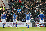 Hibs v St Johnstone...30.01.16   Utilita Scottish League Cup Semi-Final, Tynecastle..<br /> David Wothertspoon holds his head after John McGinn scores the winning goal<br /> Picture by Graeme Hart.<br /> Copyright Perthshire Picture Agency<br /> Tel: 01738 623350  Mobile: 07990 594431