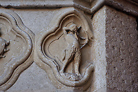 Sagittarius, detail of the signs of the Zodiac, Saint Firmin's portal, Amiens Cathedral, 13th century, Amiens, Somme, Picardie, France. Picture by Manuel Cohen