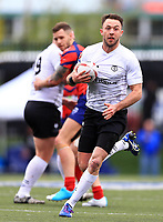 TORONTO, ON - MAY 06:  Ryan Brierley #27 of Toronto Wolfpack runs with the ball during the second half of a Kingstone Press League 1 match against Oxford RLFC at Lamport Stadium on May 6, 2017 in Toronto, Canada.  (Photo by Vaughn Ridley/SWpix.com)