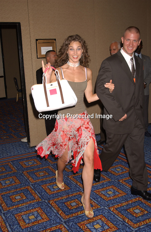 Alicia Minshew                               ..at the All My Children Fan Club Luncheon on August 10, 2003 at the Marriott Marquis in New York.                           Photo by Robin Platzer, Twin Images