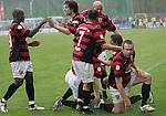 Sandhausen 19.04.2008, Rechts der Torsch&uuml;tze Steffen Wohlfarth (Ingolstadt) in der Regionalliga S&uuml;d 2007/08 SV Sandhausen 1916 - FC Ingolstadt 04<br /> <br /> Foto &copy; Rhein-Neckar-Picture *** Foto ist honorarpflichtig! *** Auf Anfrage in h&ouml;herer Qualit&auml;t/Aufl&ouml;sung. Belegexemplar erbeten.