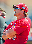4 March 2016: St. Louis Cardinals Manager Mike Matheny watches batting practice prior to a Spring Training pre-season game against the Houston Astros at Osceola County Stadium in Kissimmee, Florida. The Cardinals fell to the Astros 6-3 in Grapefruit League play. Mandatory Credit: Ed Wolfstein Photo *** RAW (NEF) Image File Available ***