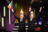10/02/'11 Pictured this afternoon at RTE Studios are Jedward, one of  the five acts which make up this years hopefulls for Ireland's entry to the Eurosong 2011 Contest. The five acts will perform on tomorrow night's Late Late show ..Picture Colin Keegan, Collins, Dublin.