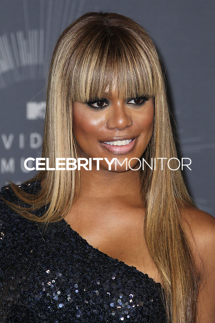 INGLEWOOD, CA, USA - AUGUST 24: Actress Laverne Cox poses in the press room at the 2014 MTV Video Music Awards held at The Forum on August 24, 2014 in the Inglewood, California, United States. (Photo by Xavier Collin/Celebrity Monitor)