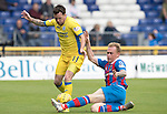 Inverness Caley Thistle v St Johnstone&hellip;27.08.16..  Tulloch Stadium  SPFL<br />Danny Swanson is tackled by Carl Tremarco<br />Picture by Graeme Hart.<br />Copyright Perthshire Picture Agency<br />Tel: 01738 623350  Mobile: 07990 594431