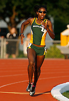 Nichole Jones of Baylor won the 800m in 2:06.96sec. and also won the 1500m in a time of 4:26.00sec. @ the Michael Johnson Classic held @ Baylor Univ., Waco, Texas on Saturday, April 21, 2007. Photo by Errol Anderson, The Sporting Image.