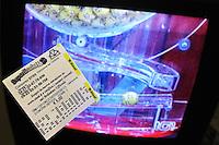 Superenalotto. Italian national lottery.Estrazione dei numeri del lotto.Drawing of the lottery numbers, lottery draw.....