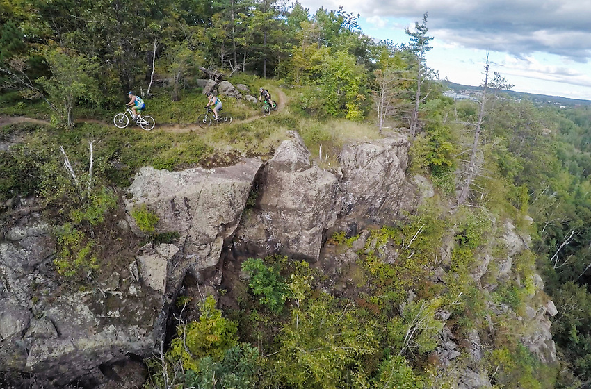 Aerial photo of the Panorama Trail on the Range Area Mountain Bike Association system in Ishpeming and Negaunee Michigan.