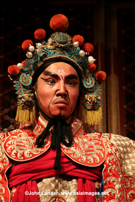 Peking opera is a form of traditional Chinese theatre which combines music, vocal performance, mime, dance and acrobatics.  Beijing opera features four main types of performers. Performing troupes often have several of each variety, as well as numerous secondary and tertiary performers. With their elaborate and colorful costumes, performers are the only focal points on Beijing opera's characteristically sparse stage. They utilize the skills of speech, song, dance, and combat in movements that are symbolic and suggestive, rather than realistic. Above all else, the skill of performers is evaluated according to the beauty of their movements.
