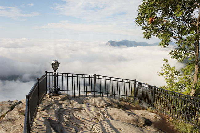 Clouds and sky viewed from a 3,000 foot high observation point on a mountain, Caesar's Head State Park, North Carolina, NC, USA.