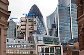 The Gherkin, Lloyds buiding and the Willis Building in one view these are three of the iconic buildings in Square Mile or the City of London.