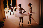 Girls waited in the wings during a rehearsal for an end of term performance at the Moscow State Academy of Choreography, the main school feeding dancers to the Bolshoi Ballet and one of the top ballet schools in the world. Moscow, Russia, December 10, 2009