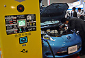 October 12, 2011, Yokohama, Japan - A charge stand for electic vehicles is shown during Electric Vehicle Development Technology Exhibition 2011 in Yokohama, south of Tokyo, on Wednesday, October 12, 2011. EVEX covers all EV-related processes from materials and design to completion. The trade show also provides rare opportunities to see and experience a trial ride the lates EVs...(Photo by Natsuki Sakai/AFLO) [3615] -mis-