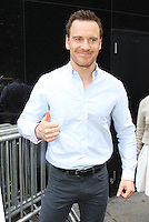 NEW YORK, NY-July 25: Michael Fassbender at Good Morning America to talk about new movie The Light Between Oceans in New York. NY July 25, 2016. Credit:RW/MediaPunch