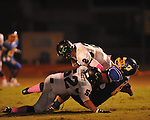 Oxford High's Joel Forrester (61) makes a tackle vs. Lake Cormorant in Oxford, Miss. on Friday, October 5, 2012. Oxford High won 26-0.