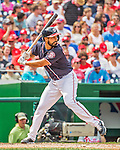 11 September 2016: Washington Nationals starting pitcher Gio Gonzalez at bat against the Philadelphia Phillies at Nationals Park in Washington, DC. The Nationals edged out the Phillies 3-2 to take the rubber match of their 3-game series. Mandatory Credit: Ed Wolfstein Photo *** RAW (NEF) Image File Available ***