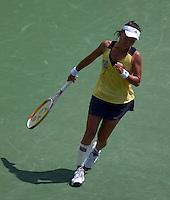 Kimiko DATE KRUMM (JPN) against Anna CHAKVETADZE in the first round. Date Krumm beat Chakvetadze 7-5 3-6 6-4..International Tennis - 2010 ATP World Tour - Sony Ericsson Open - Crandon Park Tennis Center - Key Biscayne - Miami - Florida - USA - Wed 24 Mar 2010..© Frey - Amn Images, Level 1, Barry House, 20-22 Worple Road, London, SW19 4DH, UK .Tel - +44 20 8947 0100.Fax -+44 20 8947 0117