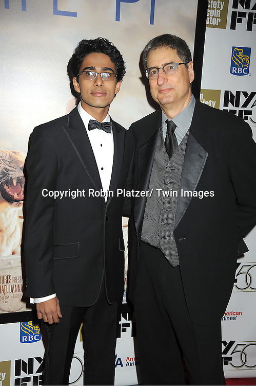 """Suraj Sharma and Tom Rothman attends the 50th Annual New York Film Festival Opening Night Gala presentation of """"Life of Pi"""" starring Suraj Sharma and directored by Ang Lee on September 28, 2012 in New York City. The screening was at Alice Tully Hall at Lincoln Center."""