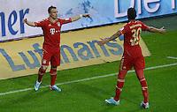 FUSSBALL   1. BUNDESLIGA  SAISON 2012/2013   27. Spieltag   FC Bayern Muenchen - Hamburger SV    30.03.2013 JUBEL FC Bayern Muenchen, Xherdan Shaqiri (li) und Luiz Gustavo