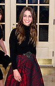 Singer Sara Bareilles arrives for the State Dinner in honor of Prime Minister Trudeau and Mrs. Sophie Gr&eacute;goire Trudeau of Canada at the White House in Washington, DC on Thursday, March 10, 2016.<br /> Credit: Ron Sachs / Pool via CNP