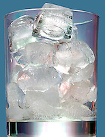 ICE MELTING IN A GLASS<br /> Water Freezes At 0 Deg C. Or 32 Deg F. At 1 Atm