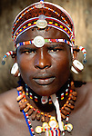 Portrait of a Samburu moran (warrior), Kenya