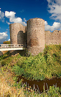 The medieval Llantilio Castle, circa 1185-87, better known as the White Castle, the Monnow valley, Monmouthshire, Wales