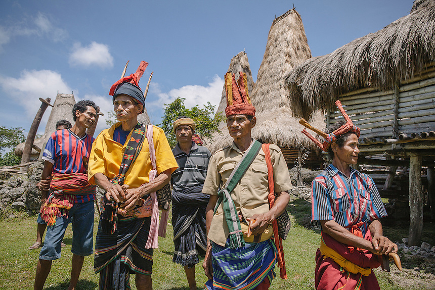 The Ratos, Sumbanese spiritual leader, gathers at the village of Tosi, Kodi, for a religious ritual before the Pasola begun later in the day. Pasola is an ancient tradition from the Indonesian island of Sumba. Categorized as both extreme traditional sport and ritual, Pasola is an annual mock horse warfare performed in response to the harvesting season. In the battelfield, the Pasola warriors use blunt spears as their weapon. However, fatal accident still do occurs.