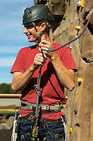 Photography of the spire climbing wall at the U.S. National Whitewater Center in Charlotte, North Carolina. <br /> <br /> Charlotte Photographer - PatrickSchneiderPhoto.com