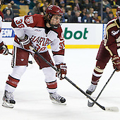Conor Morrison (Harvard - 38) - The Boston College Eagles defeated the Harvard University Crimson 4-1 in the opening round of the 2013 Beanpot tournament on Monday, February 4, 2013, at TD Garden in Boston, Massachusetts.