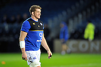 Stuart Hooper of Bath Rugby looks on during the pre-match warm-up. European Rugby Champions Cup match, between Leinster Rugby and Bath Rugby on January 16, 2016 at the RDS Arena in Dublin, Republic of Ireland. Photo by: Patrick Khachfe / Onside Images