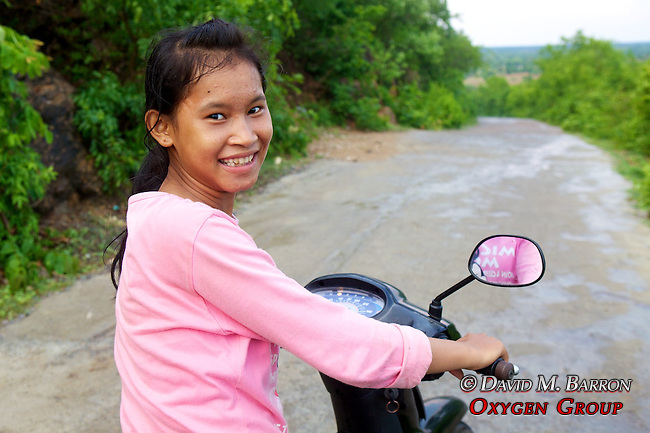 Young Girl Scooter Driver