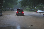 Flash flooding on Chandler Avenue in Oxford, Miss. on Wednesday, April 27, 2011.