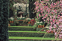 Grass steps to The Wedding Place - Spring Filoli Garden, Woodside, CA