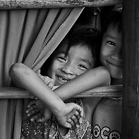 Vietnam Images-Children living in mekong delta .