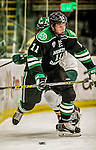 24 October 2015: University of North Dakota Forward Trevor Olson, a Sophomore from Duluth, MN, in first period action against the University of Vermont Catamounts at Gutterson Fieldhouse in Burlington, Vermont. North Dakota defeated the Catamounts 5-2 in the second game of their weekend series. Mandatory Credit: Ed Wolfstein Photo *** RAW (NEF) Image File Available ***