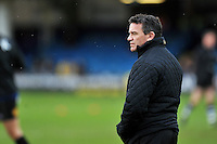 Bath Rugby Head Coach Mike Ford looks on during the pre-match warm-up. Aviva Premiership match, between Bath Rugby and Wasps on February 20, 2016 at the Recreation Ground in Bath, England. Photo by: Patrick Khachfe / Onside Images