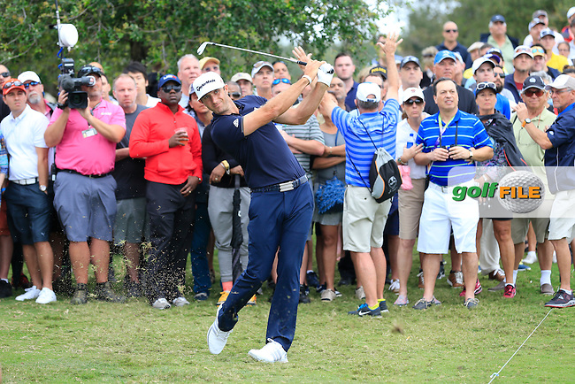 Dustin Johnson (USA) on his way to winning the WGC Cadillac Championship, Blue Monster, Trump National Doral, Doral, Florida, USA<br /> Picture: Fran Caffrey / Golffile