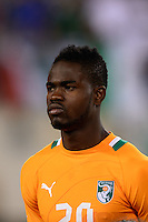 Ivory Coast midfielder Abdul Razak (20). Mexico defeated the Ivory Coast 4-1 during an international friendly at MetLife Stadium in East Rutherford, NJ, on August 14, 2013.
