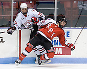 Randy Guzior (Northeastern - 13), Joel Malchuk (RPI - 13) - The visiting Rensselaer Polytechnic Institute Engineers tied their host, the Northeastern University Huskies, 2-2 (OT) on Friday, October 15, 2010, at Matthews Arena in Boston, MA.