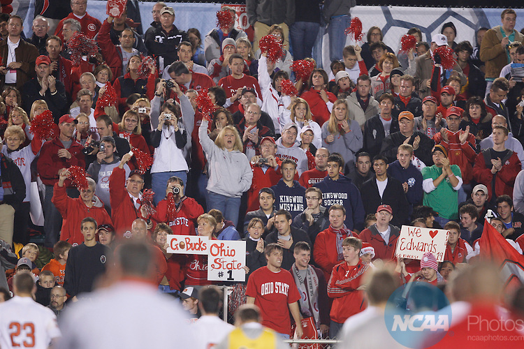 14 DEC 2007:  Ohio State University takes on the University of Massachusetts during the Division I Men's Soccer Championship held at the SAS Soccer Park in Cary, NC.   Jamie Schwaberow/NCAA Photos