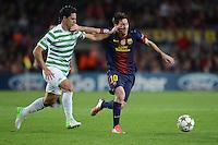 FUSSBALL   INTERNATIONAL   CHAMPIONS LEAGUE   2012/2013      FC Barcelona - Celtic FC Glasgow       23.10.2012 Lionel Messi (re, Barca) gegen Biram Kayal (Celtic)