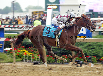 Funny Cide/Jose Santos/Barclay Tagg/Preakness Stakes/Pimlico