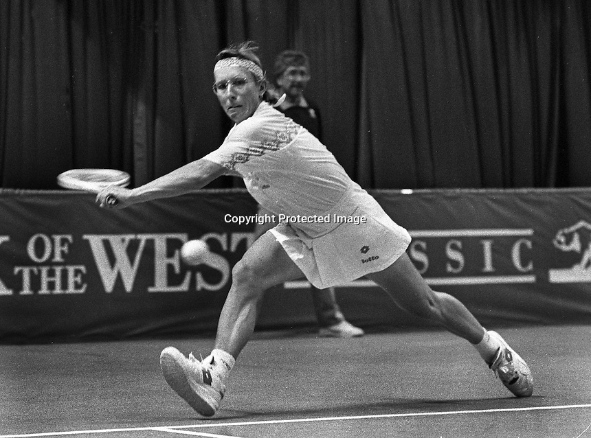Tennis star Martina Natrolova<br />