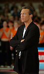 Basketball, BBL 2003/2004 , 1.Bundesliga Herren, Wuerzburg (Germany) X-Rays TSK Wuerzburg - GHP Bamberg (62:84) Trainer, Headcoach Aaron McCarthy (Wuerzburg)