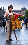 Mexico, Mexico City, Organ Grinder, Century Old Tradition, Harmonipan Wooden Hand Organs Made In Berlin