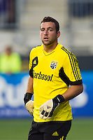 Columbus Crew goalkeeper Andy Gruenebaum (30). The Columbus Crew defeated the Philadelphia Union 2-1 during a Major League Soccer (MLS) match at PPL Park in Chester, PA, on August 29, 2012.