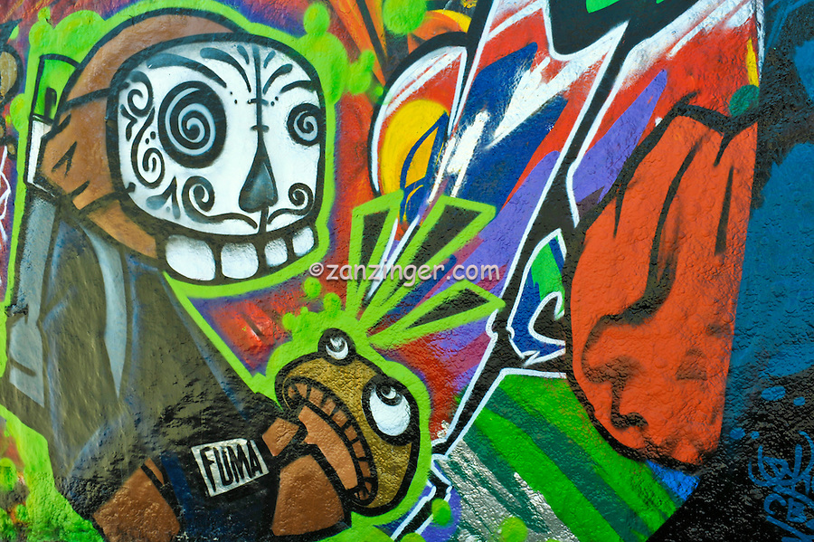 Graffiti Pit, Venice, CA, Boardwalk, creative, outlet, graffiti park, spray-paint, artists, painting, Red, Green, Orange