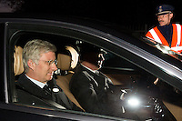 Royal Belgian family & friends attend a private Memorial for the death of Queen Fabiola of Belgium