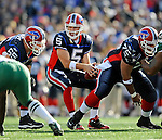 2 November 2008:  Buffalo Bills' quarterback Trent Edwards takes a snap in the first quarter against the New York Jets at Ralph Wilson Stadium in Orchard Park, NY. The Jets defeated the Bills 26-17 improving their record to 5 and 3 for the season...Mandatory Photo Credit: Ed Wolfstein Photo